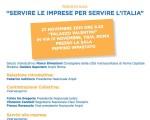 """""""SERVIRE LE IMPRESE PER SERVIRE L'ITALIA"""" 27 NOVEMBRE 2015"""