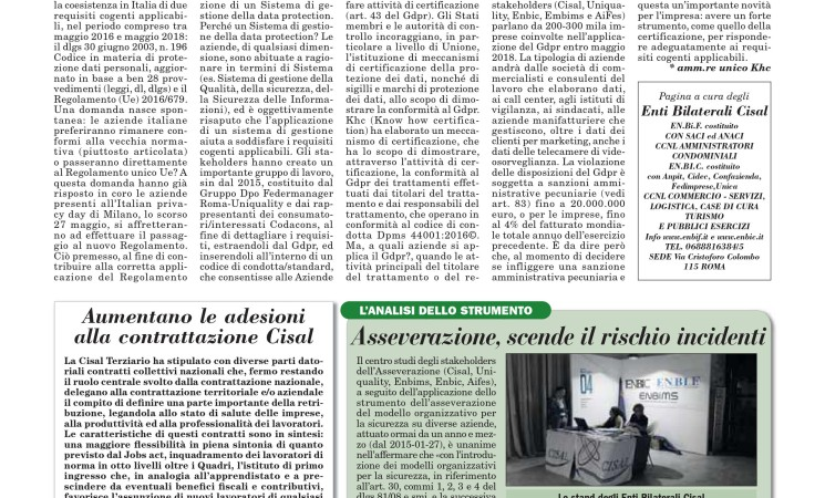 ITALIA OGGI: ARTICOLO DEL 29 LUGLIO 2016