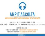 ANPIT ASCOLTA...UMBRIA 16 FEBBRAIO 2017 ORE 15.00