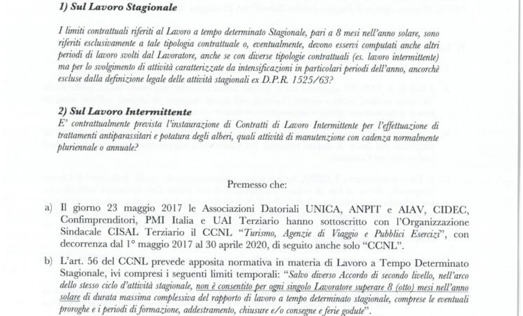 LAVORO INTERMITTENTE E TEMPO INDETERMINATO CCNL TURISMO