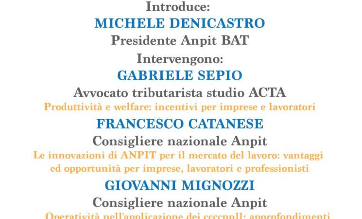 """LA CONTRATTAZIONE COLLETTIVA PER L'ITALIA DI DOMANI"""" 17 APRILE 2018 BARLETTA ORE 15.00"""