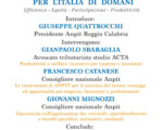 """""""LA CONTRATTAZIONE COLLETTIVA PER L'ITALIA DI DOMANI"""" 11 Maggio 2018 Reggio Calabria ORE 16.30"""