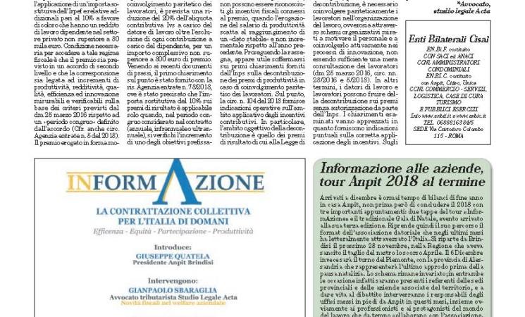 ITALIA OGGI 20 NOVEMBRE 2018
