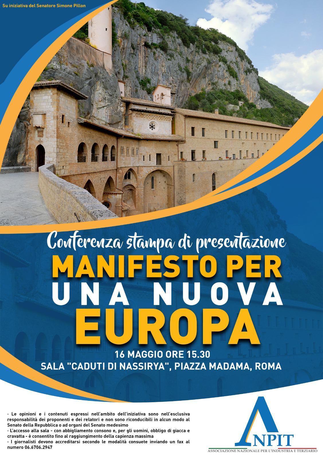 locandina 16 maggio 2019 manifesto per una nuova europa